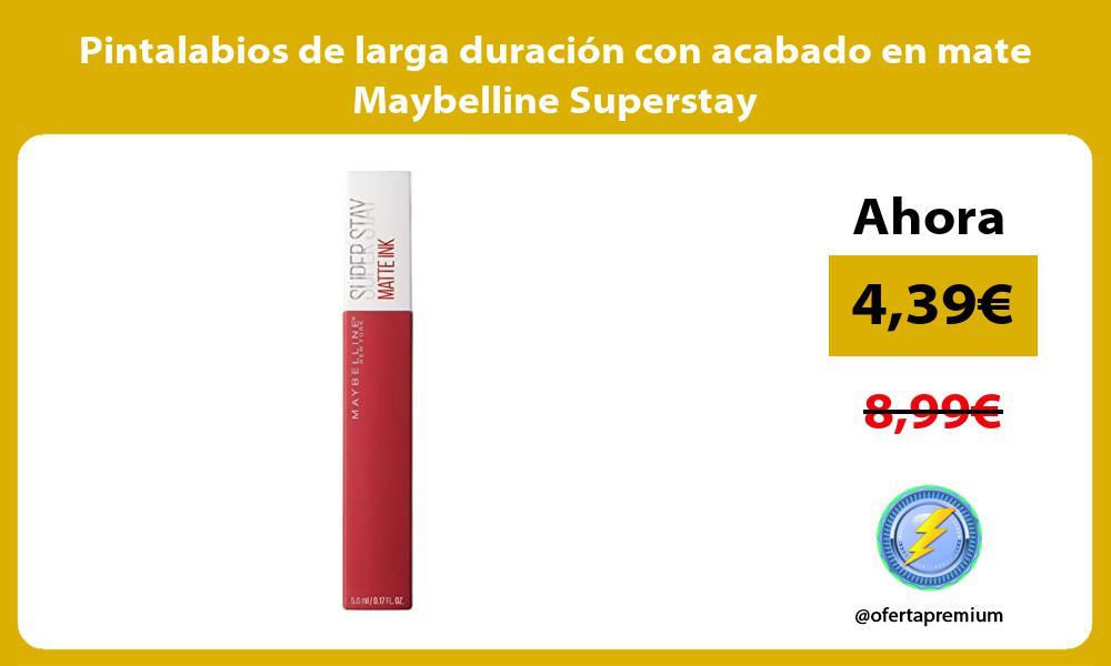 Pintalabios de larga duración con acabado en mate Maybelline Superstay