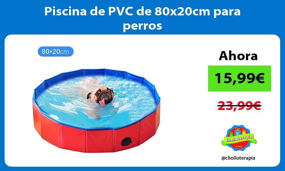 Piscina de PVC de 80x20cm para perros