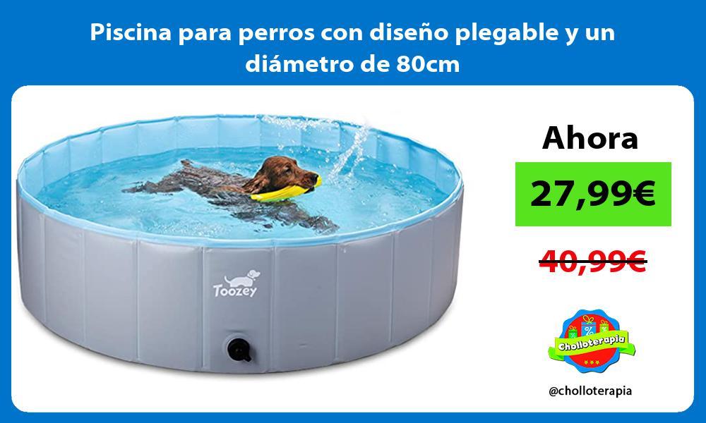 Piscina para perros con diseño plegable y un diámetro de 80cm