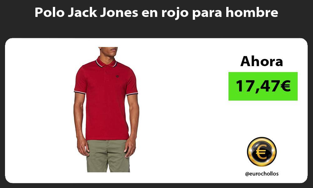 Polo Jack Jones en rojo para hombre
