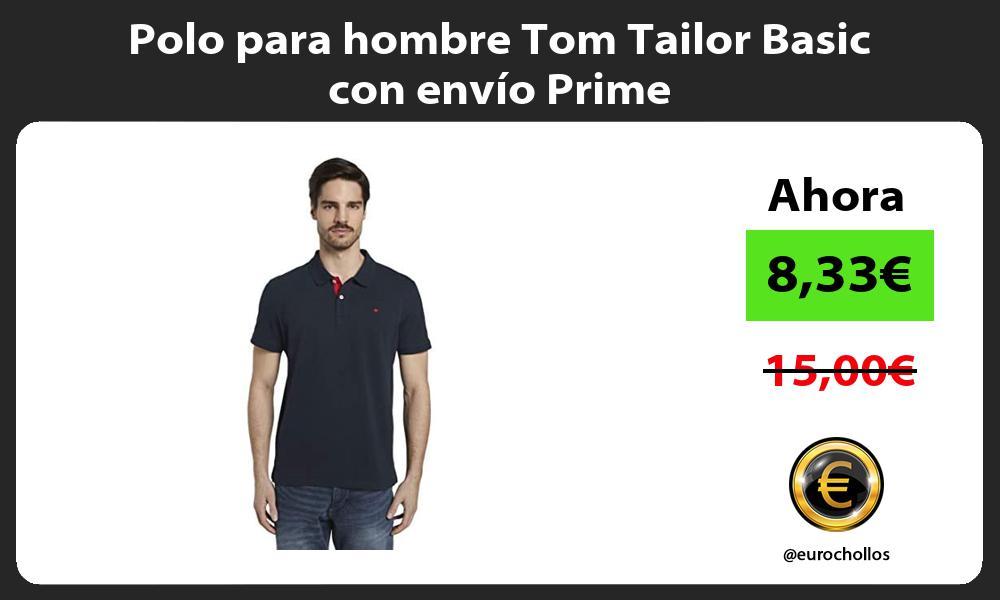 Polo para hombre Tom Tailor Basic con envío Prime