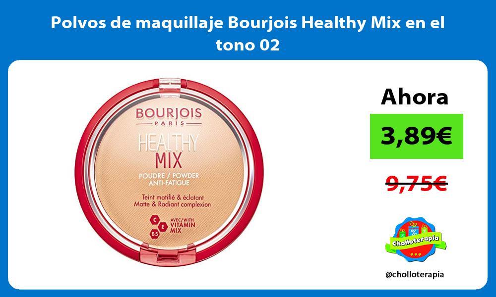 Polvos de maquillaje Bourjois Healthy Mix en el tono 02