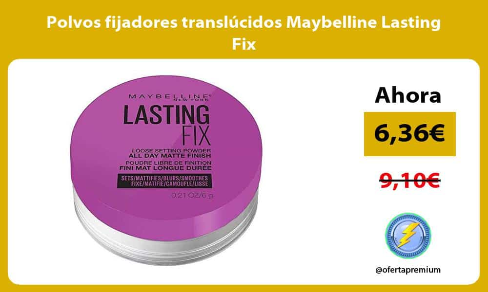 Polvos fijadores translúcidos Maybelline Lasting Fix