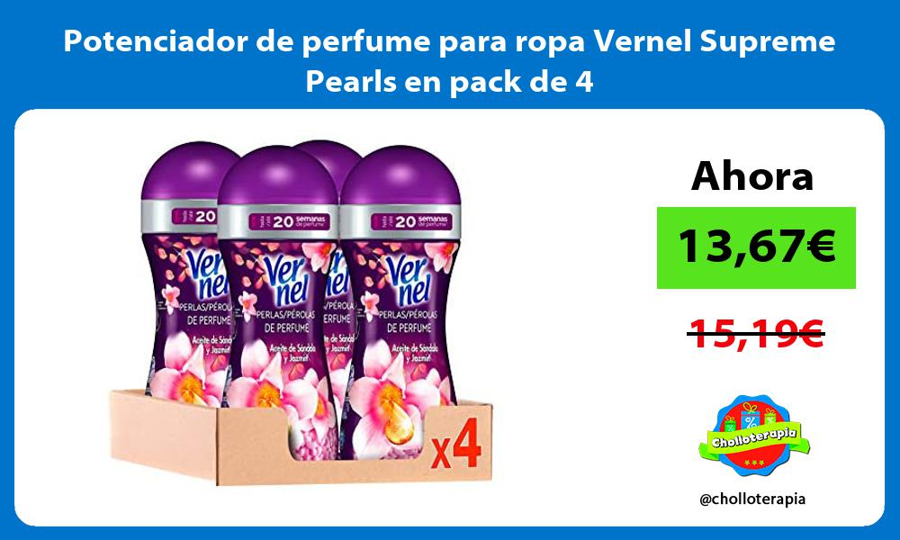 Potenciador de perfume para ropa Vernel Supreme Pearls en pack de 4