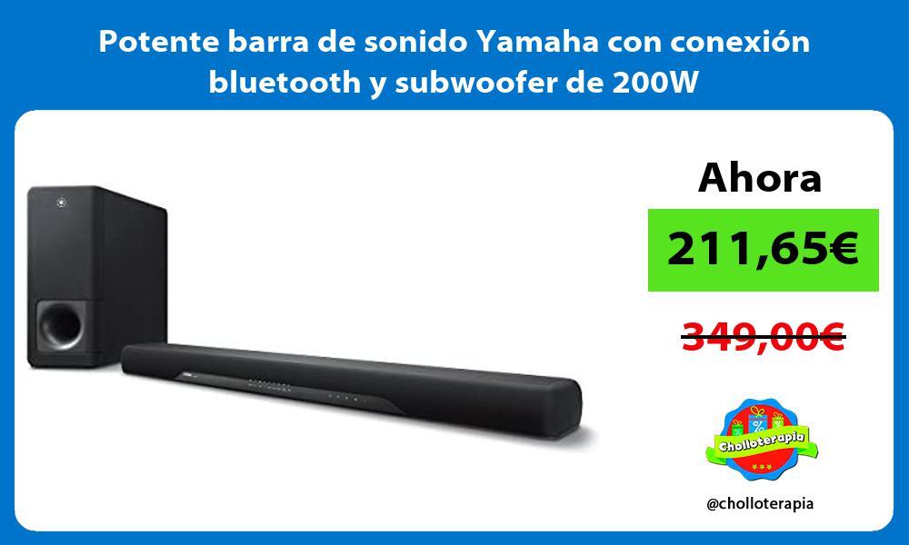 Potente barra de sonido Yamaha con conexión bluetooth y subwoofer de 200W