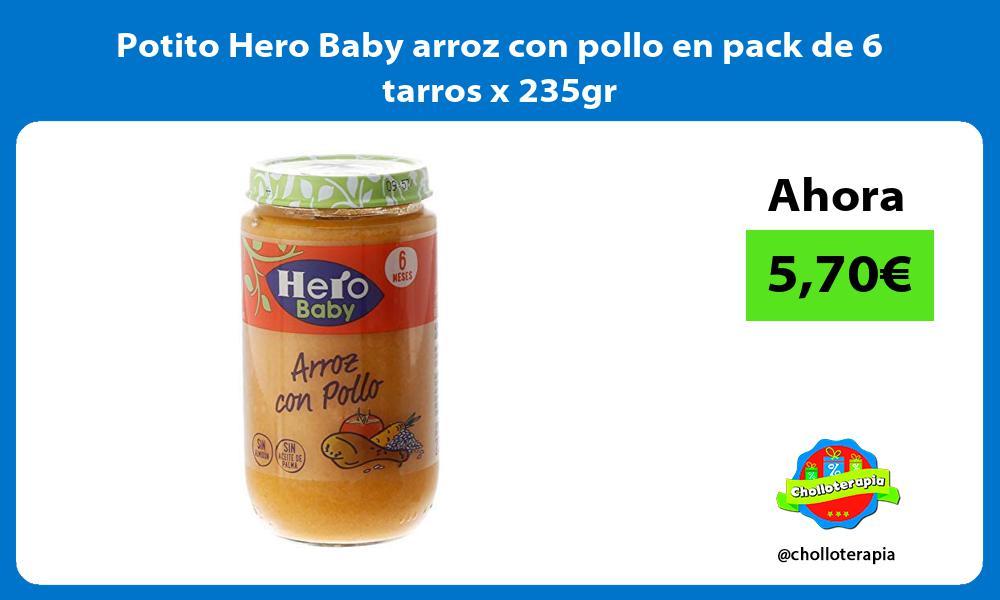 Potito Hero Baby arroz con pollo en pack de 6 tarros x 235gr