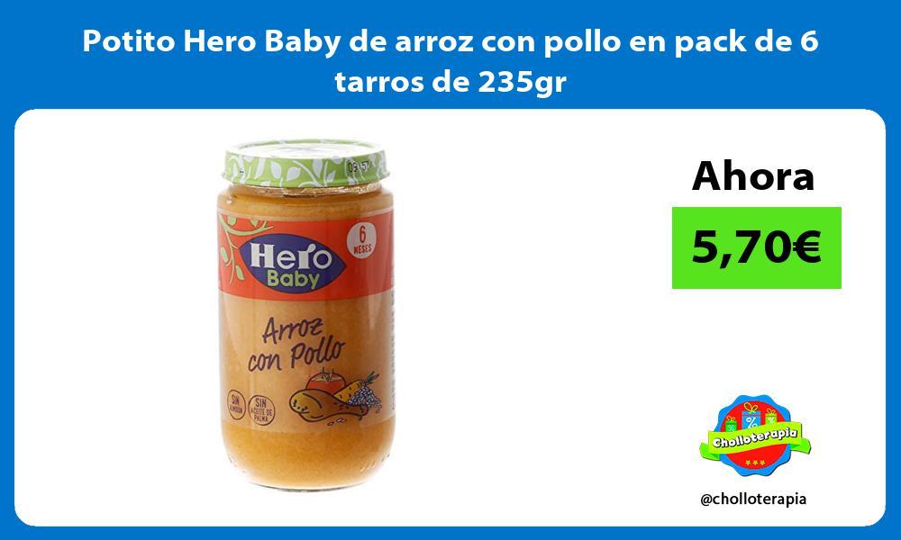Potito Hero Baby de arroz con pollo en pack de 6 tarros de 235gr