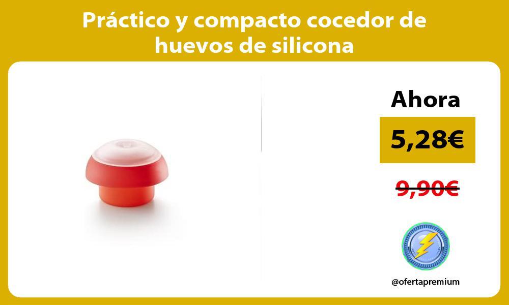 Práctico y compacto cocedor de huevos de silicona