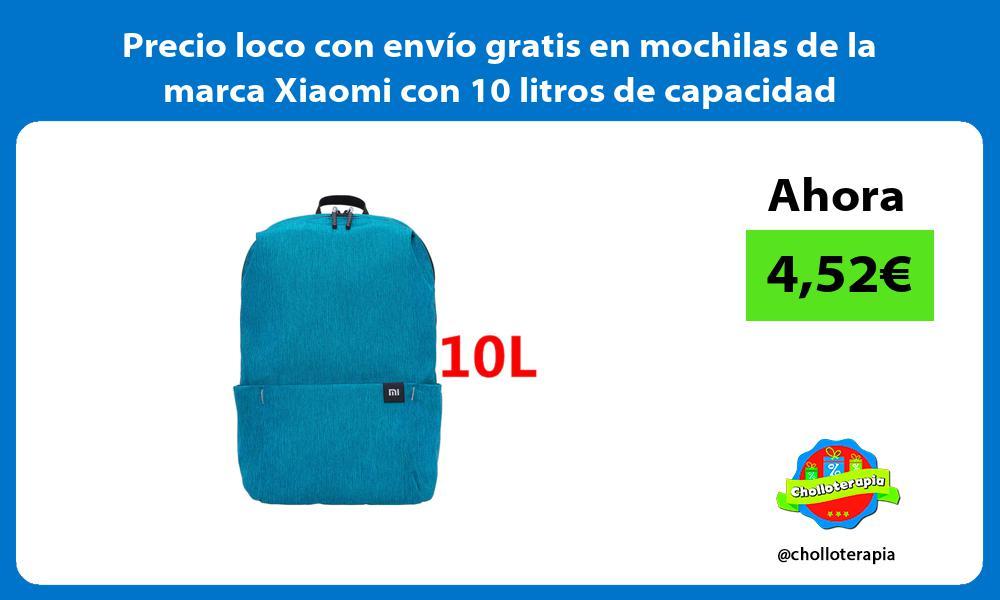 Precio loco con envío gratis en mochilas de la marca Xiaomi con 10 litros de capacidad
