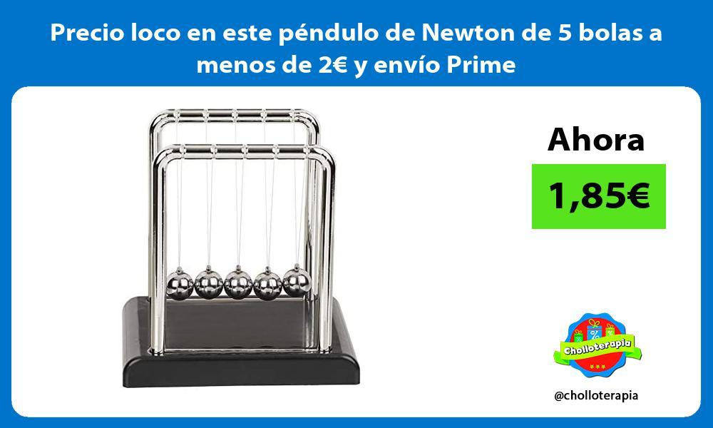 Precio loco en este péndulo de Newton de 5 bolas a menos de 2€ y envío Prime