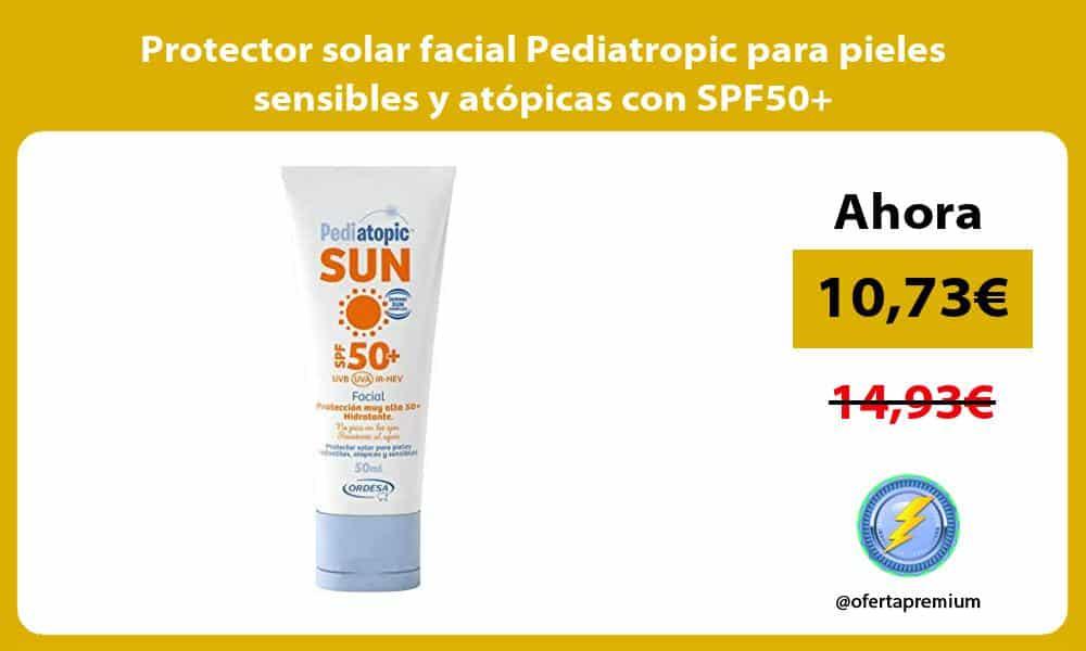 Protector solar facial Pediatropic para pieles sensibles y atópicas con SPF50