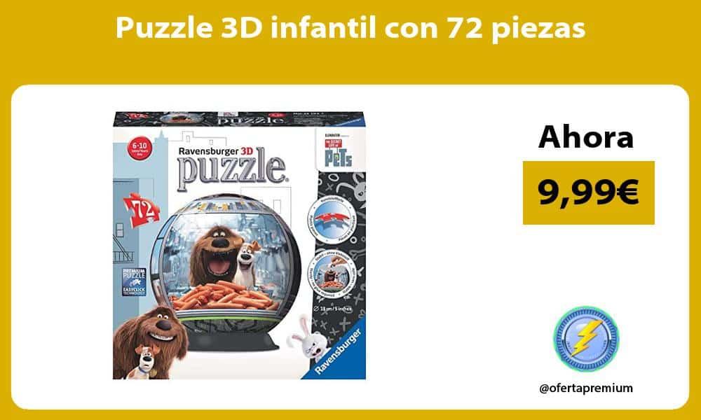 Puzzle 3D infantil con 72 piezas