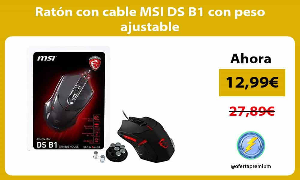 Ratón con cable MSI DS B1 con peso ajustable