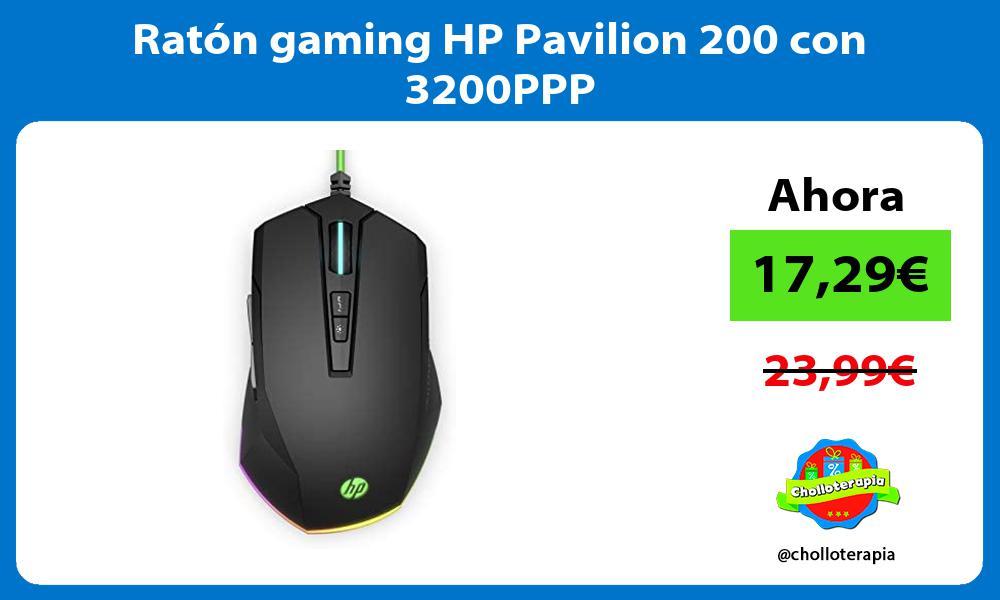 Ratón gaming HP Pavilion 200 con 3200PPP