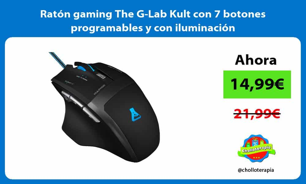 Ratón gaming The G Lab Kult con 7 botones programables y con iluminación