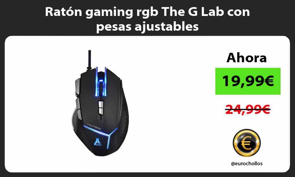 Ratón gaming rgb The G Lab con pesas ajustables