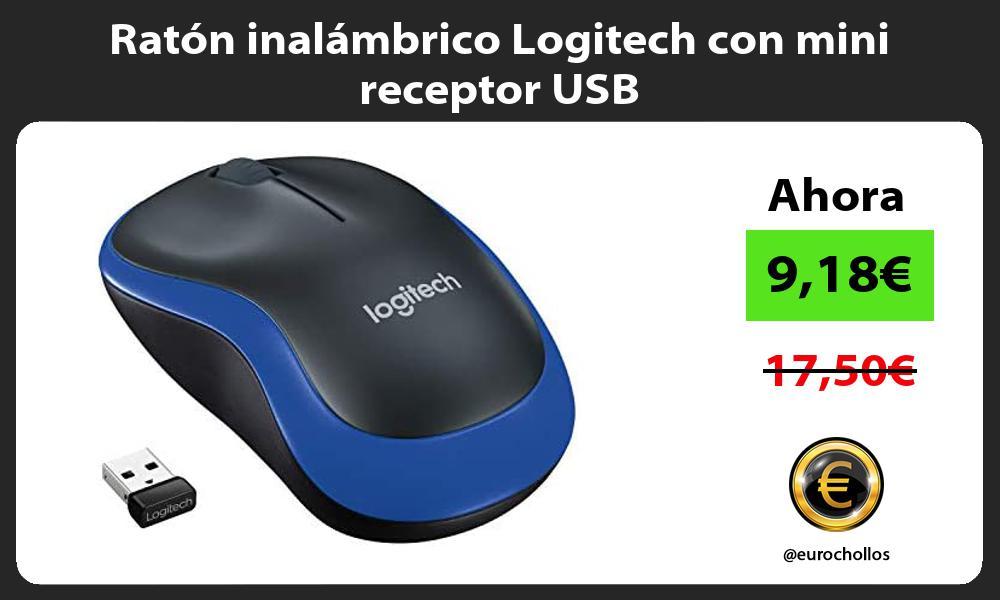Ratón inalámbrico Logitech con mini receptor USB