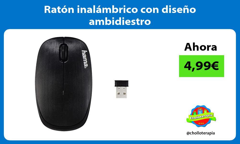 Ratón inalámbrico con diseño ambidiestro