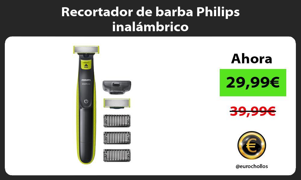 Recortador de barba Philips inalámbrico