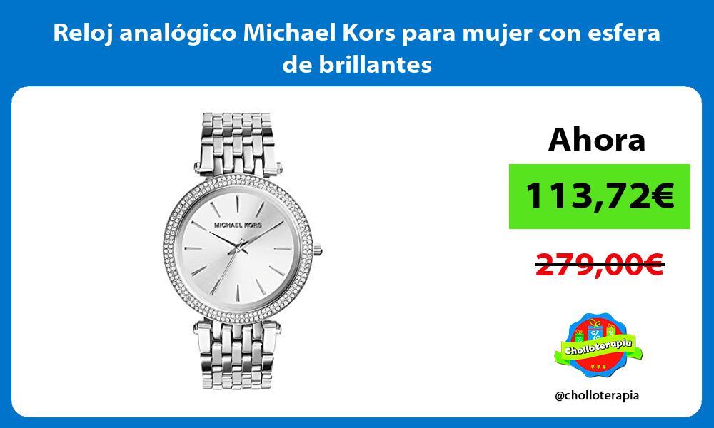 Reloj analógico Michael Kors para mujer con esfera de brillantes