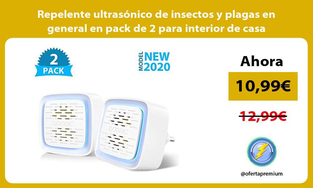 Repelente ultrasónico de insectos y plagas en general en pack de 2 para interior de casa