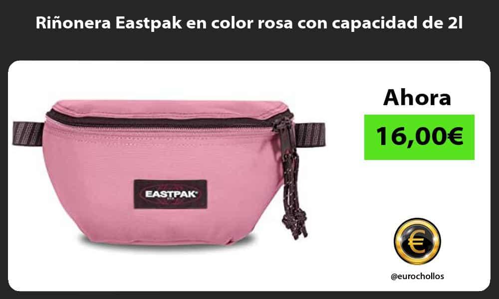 Riñonera Eastpak en color rosa con capacidad de 2l