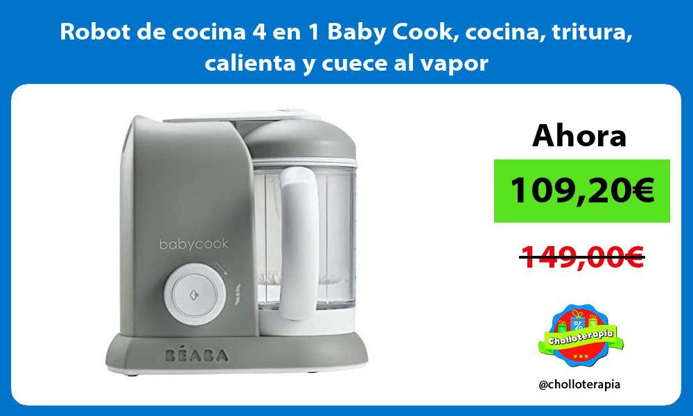 Robot de cocina 4 en 1 Baby Cook cocina tritura calienta y cuece al vapor