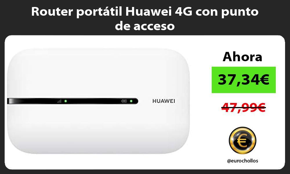 Router portátil Huawei 4G con punto de acceso