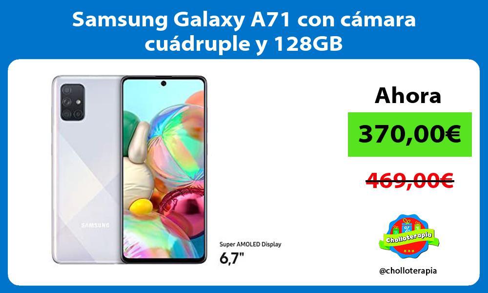 Samsung Galaxy A71 con cámara cuádruple y 128GB