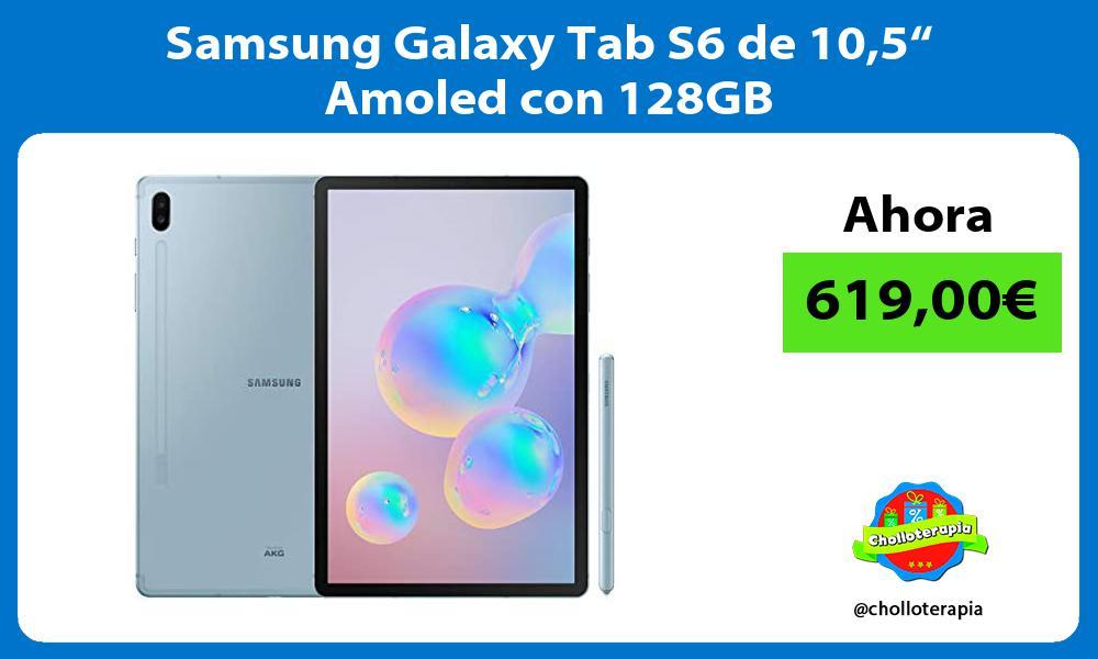 "Samsung Galaxy Tab S6 de 105"" Amoled con 128GB"