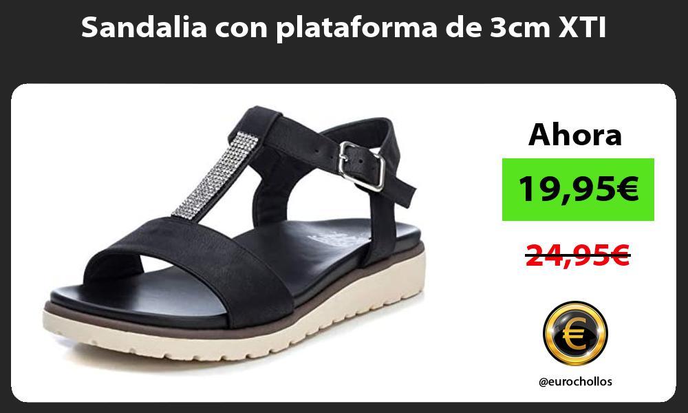 Sandalia con plataforma de 3cm XTI
