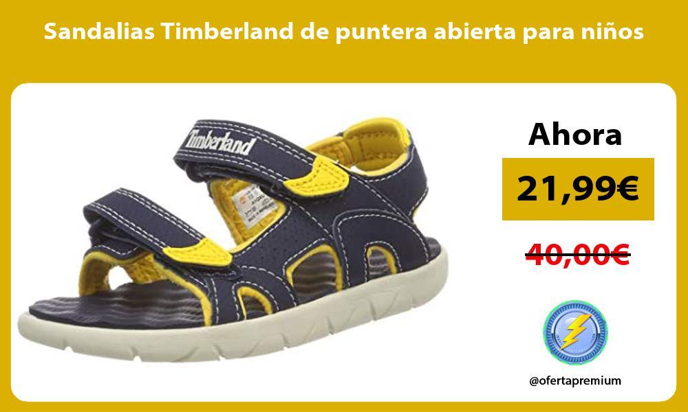 Sandalias Timberland de puntera abierta para niños