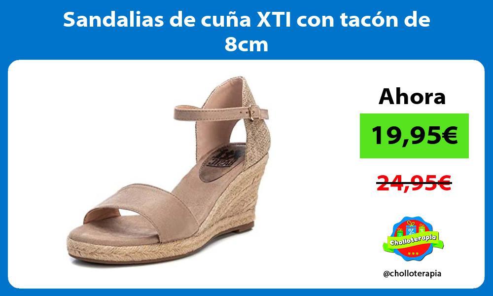 Sandalias de cuña XTI con tacón de 8cm