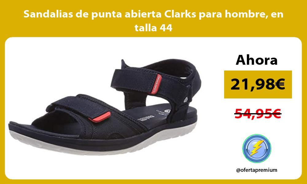 Sandalias de punta abierta Clarks para hombre en talla 44