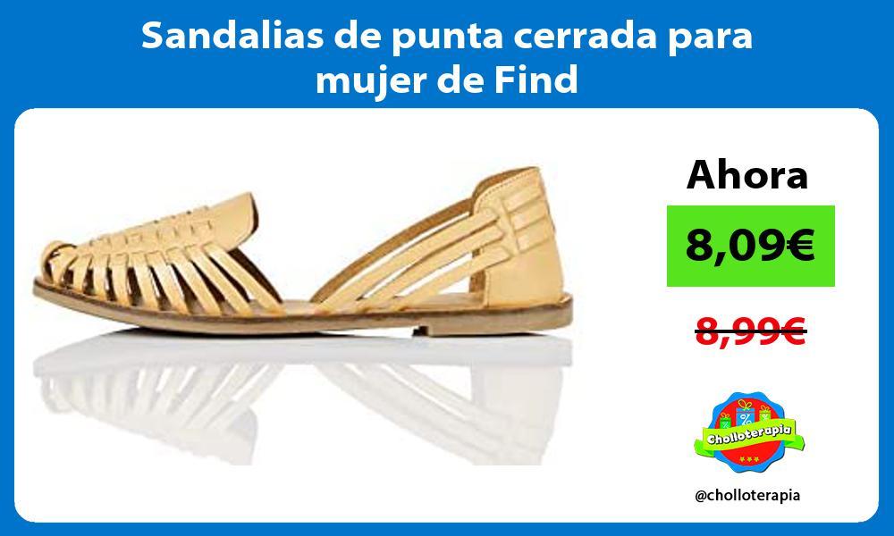 Sandalias de punta cerrada para mujer de Find