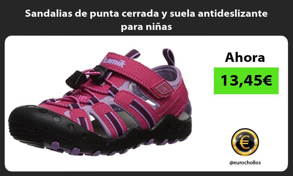 Sandalias de punta cerrada y suela antideslizante para niñas