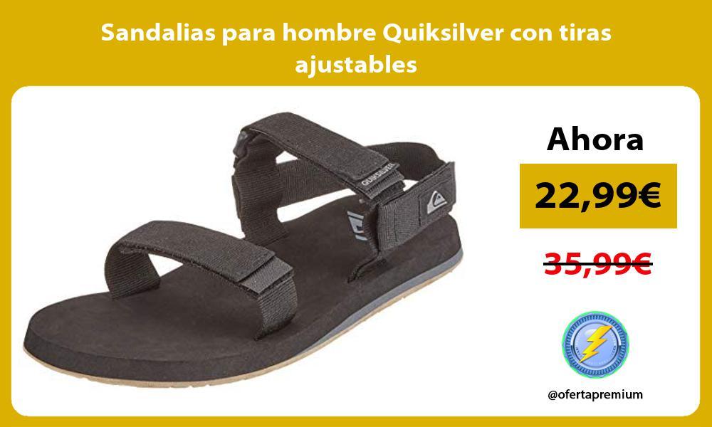 Sandalias para hombre Quiksilver con tiras ajustables