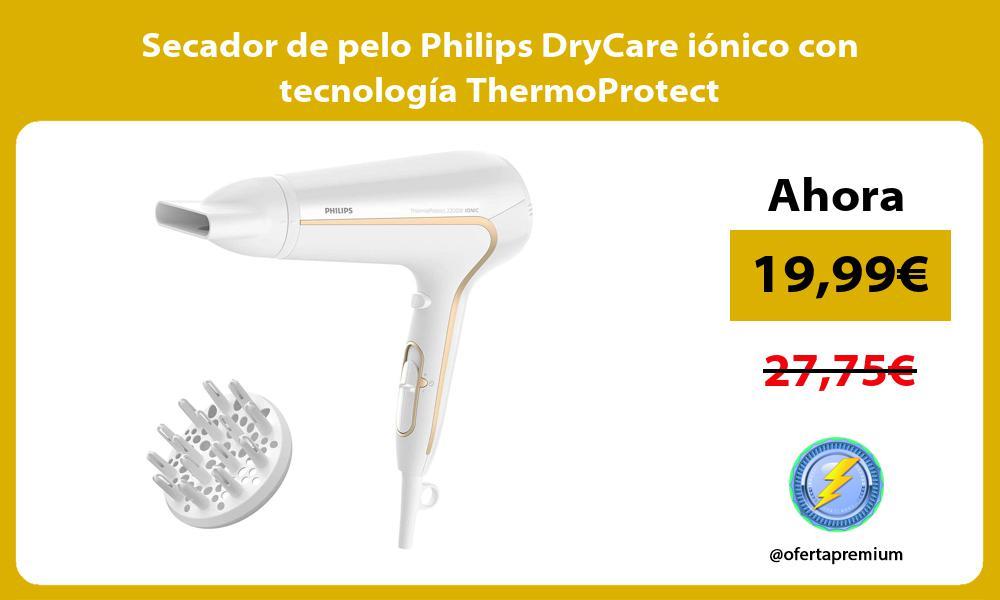 Secador de pelo Philips DryCare iónico con tecnología ThermoProtect