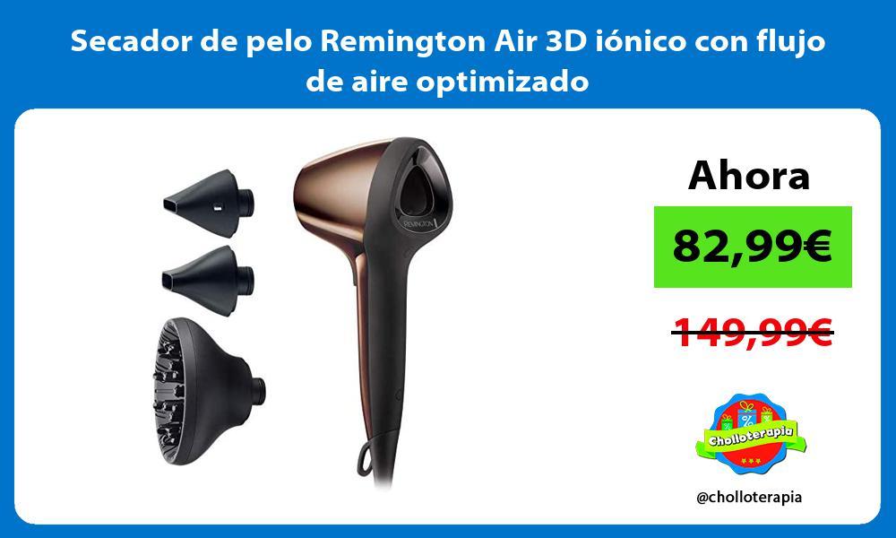 Secador de pelo Remington Air 3D iónico con flujo de aire optimizado
