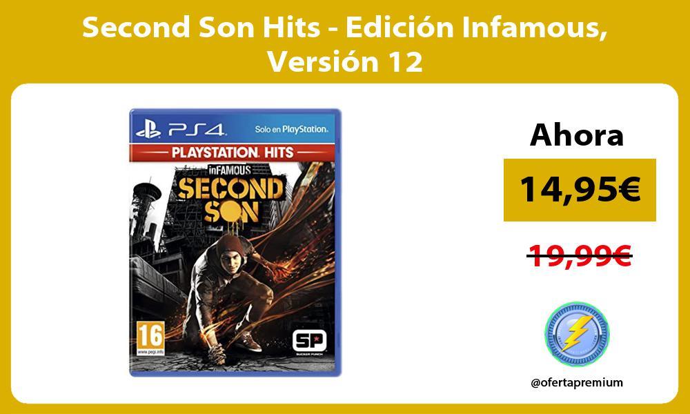 Second Son Hits Edición Infamous Versión 12