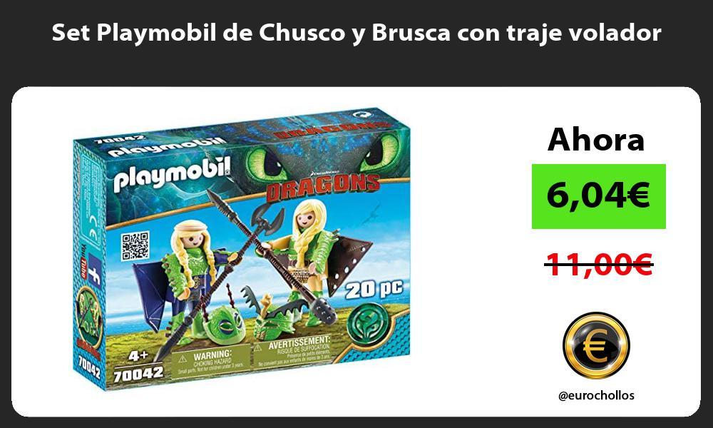Set Playmobil de Chusco y Brusca con traje volador