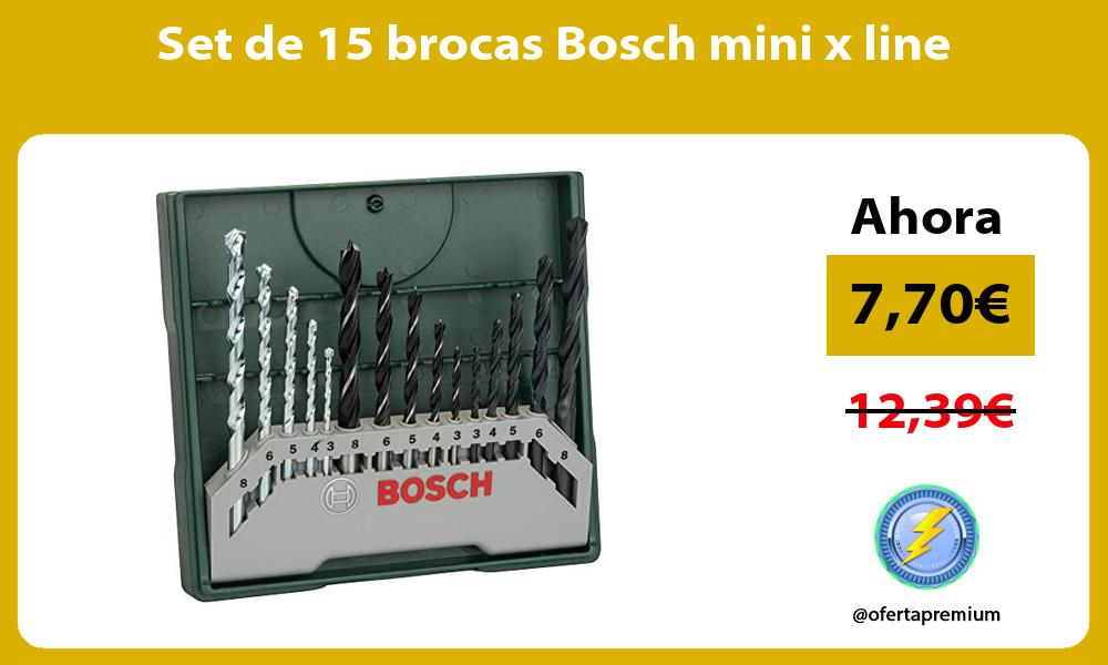 Set de 15 brocas Bosch mini x line