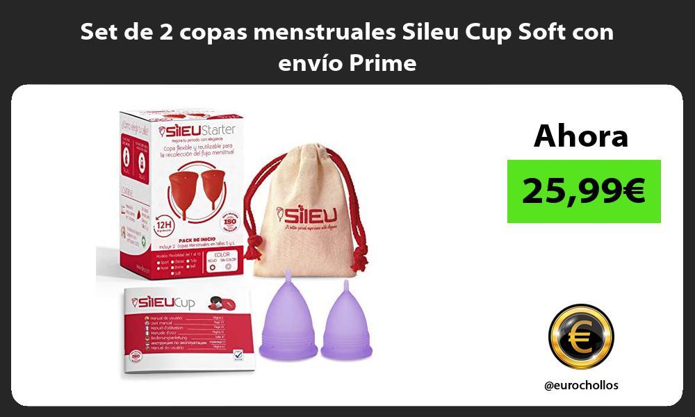 Set de 2 copas menstruales Sileu Cup Soft con envío Prime