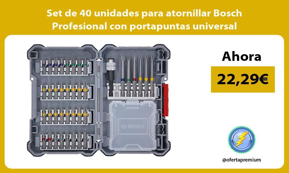 Set de 40 unidades para atornillar Bosch Profesional con portapuntas universal
