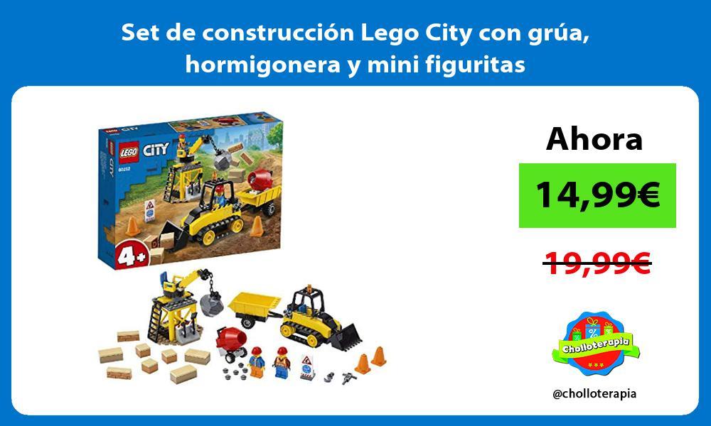 Set de construcción Lego City con grúa hormigonera y mini figuritas