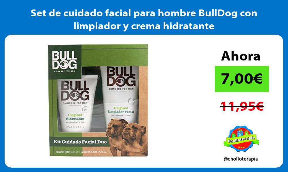 Set de cuidado facial para hombre BullDog con limpiador y crema hidratante