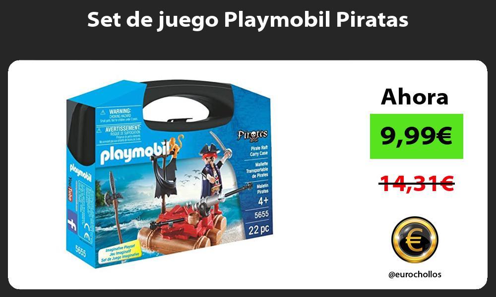 Set de juego Playmobil Piratas