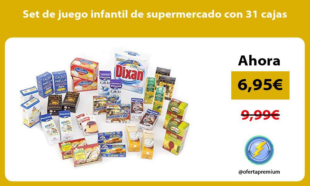Set de juego infantil de supermercado con 31 cajas