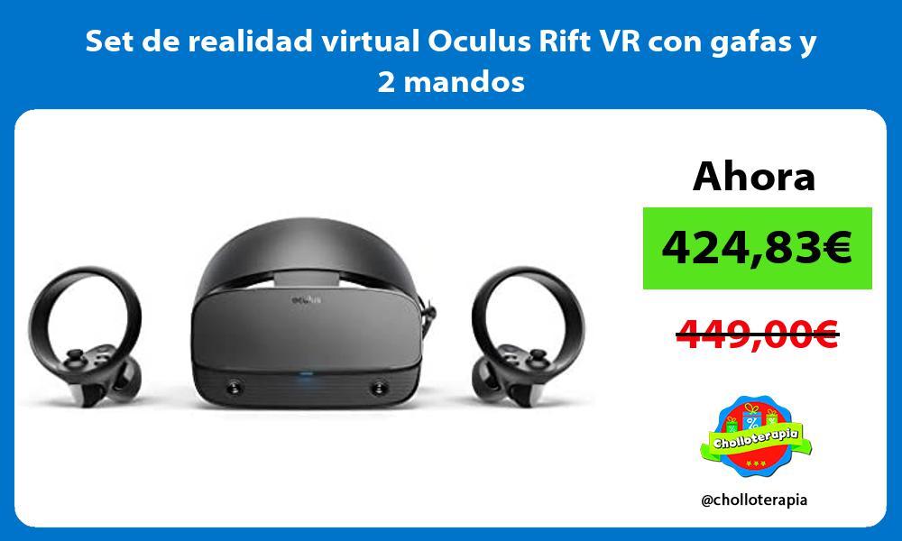 Set de realidad virtual Oculus Rift VR con gafas y 2 mandos