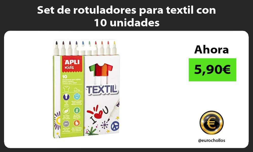 Set de rotuladores para textil con 10 unidades